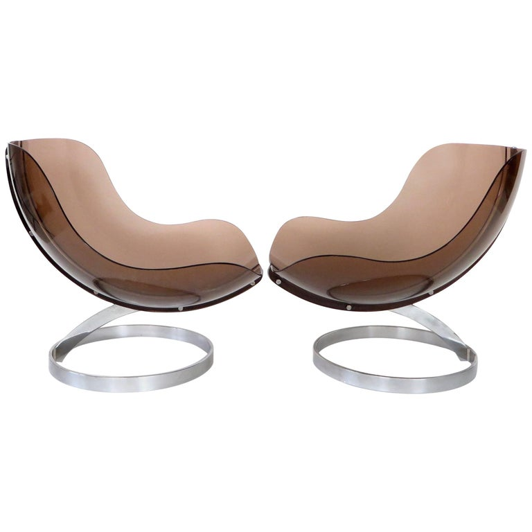 "Pair of French ""Sphere"" Lounge Chairs by Boris Tabacoff by Editions MMM, 1971"
