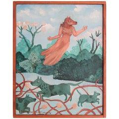 1970s Surrealist Fantasy Painting