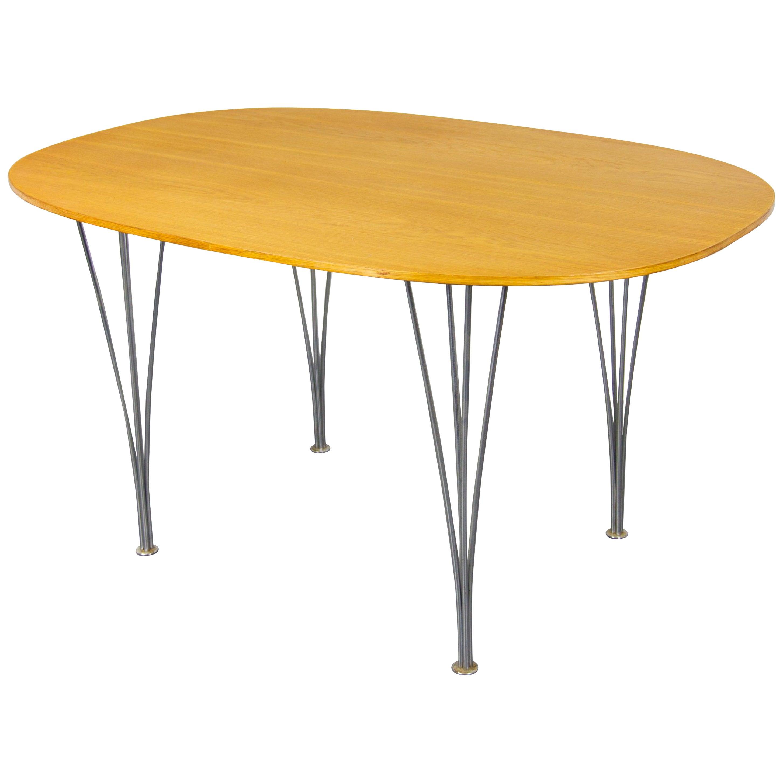 Piet Hein Super Elliptical Dining Table For Fritz Hansen At 1stdibs