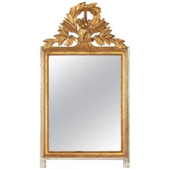 Louis XVI Style Gilded and Painted Mirror by Andre Mailfert, 1930s