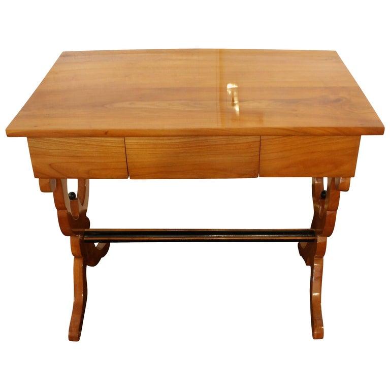 19th Century, Biedermeier Cherry Ladies Desk / Side Table