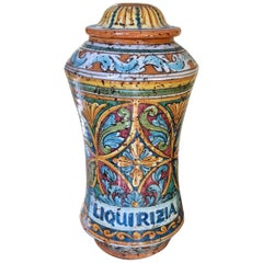 Sicilian Liquirizia 'Licorice' Pharmacy Jar, Italy , Free Shipping