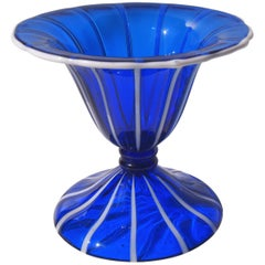 Art Deco Loetz Ausfuehrung 157 Vase in Blue and White by Michael Powolny