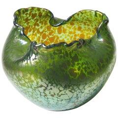 Art Nouveau Loetz Crete Papillon Ball Vase