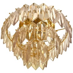 Kinkeldey mid-century Sconce glass with Three Level Gilt Frame german, 1960