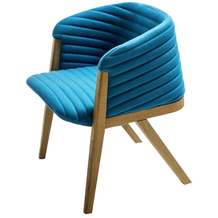 Mafalda Dining Chair, Patricia Urquiola for Moroso in Oak with Leather or Fabric