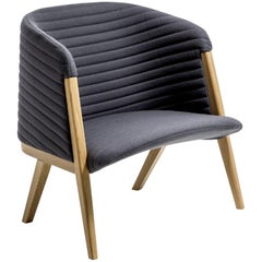 Mafalda Armchair by Patricia Urquiola for Moroso in Oak with Leather or Fabric