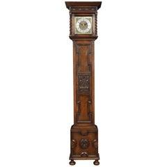 Jacobean Style Oak Cased Grandmother Clock