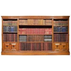 Reformed Gothic Golden Oak Open Bookcase