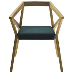 YY Chair in Natural, Oiled or Black Oak with Seat in Fabric or Leather by Moroso