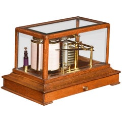 Oak Cased Barograph by A J Lizars