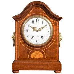 Large Edwardian Inlaid Mantle Clock
