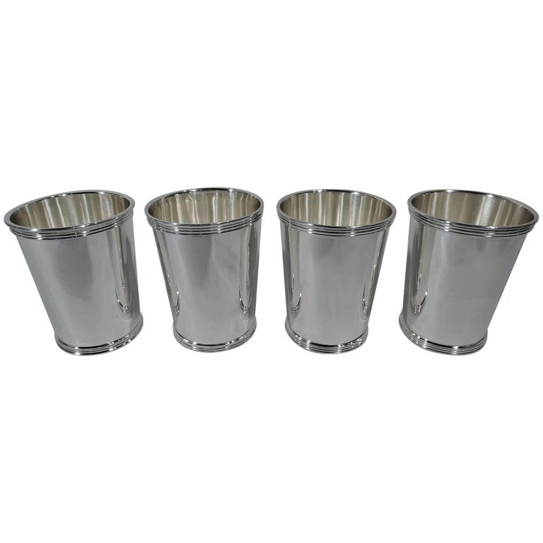 Set of Four International Sterling Silver Mint Julep Cups