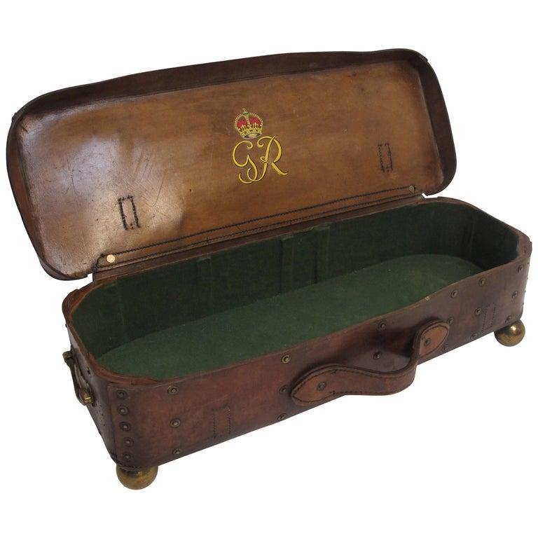 Gentleman's Leather Ammo Box, English 19th Century