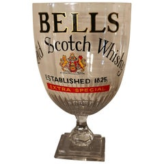 Huge Bar Chalice, Victorian Advertising Bells Scotch Whisky