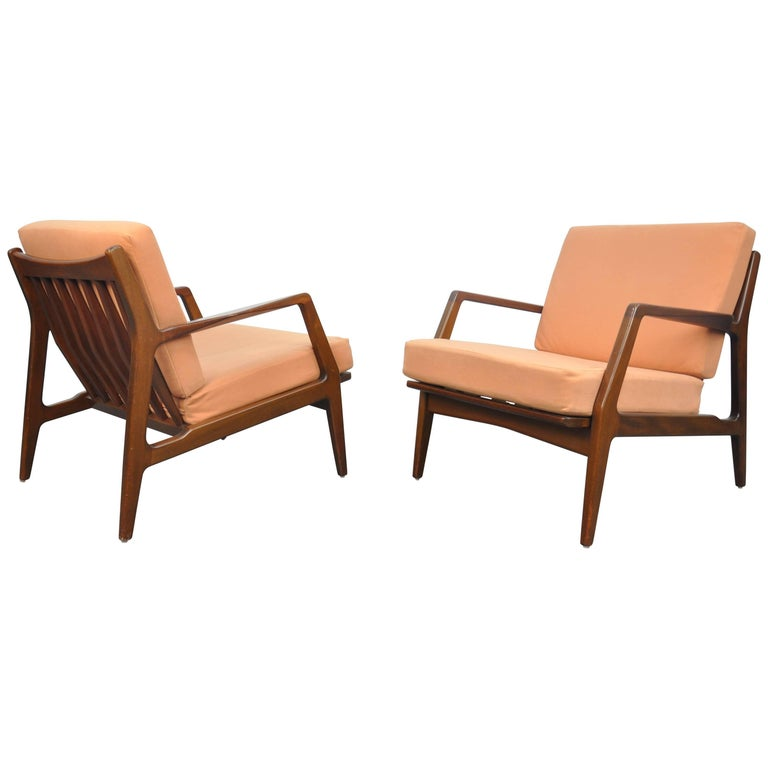 Pair of Ib Kofod-Larsen for Selig Lounge Chairs
