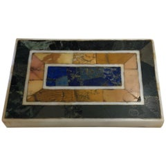 Grand Tour Inlaid Marble Specimen Paperweight, Early 20th Century