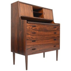 Danish Modern Rosewood Secretary Desk with Vanity