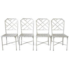 Vintage Brown Jordan Calcutta Side Dining Chairs in White