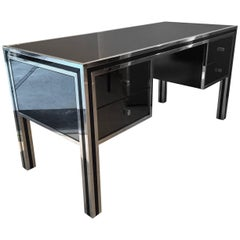 Mirrored and Chrome Desk by Sandro Petti