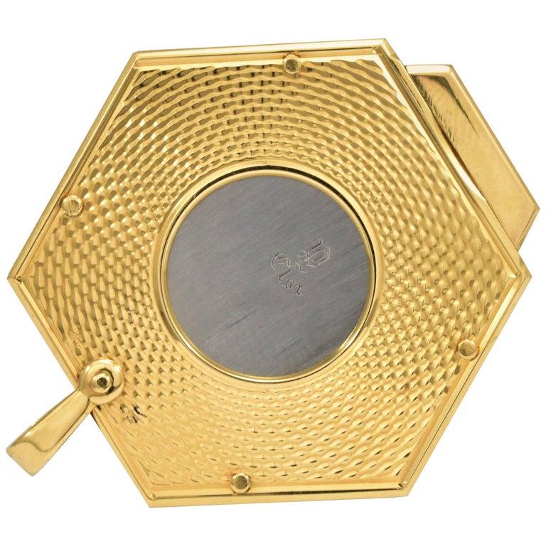 1960 Eloi Gold Cigar Cutter Hexagon 'Tested 18-Karat'