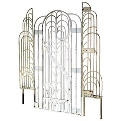 American Art Deco Architectural Hand Wrought Iron Gates