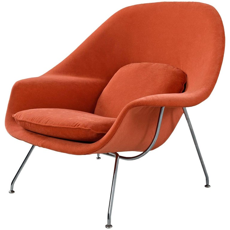 Vintage Eero Saarinen for Knoll Womb Lounge Chair Restored with New Upholstery