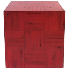Red Side or End Table