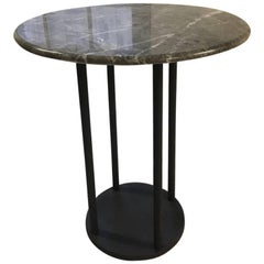Contemporary Minimalist Blackened Steel and Marble Table by Scott Gordon