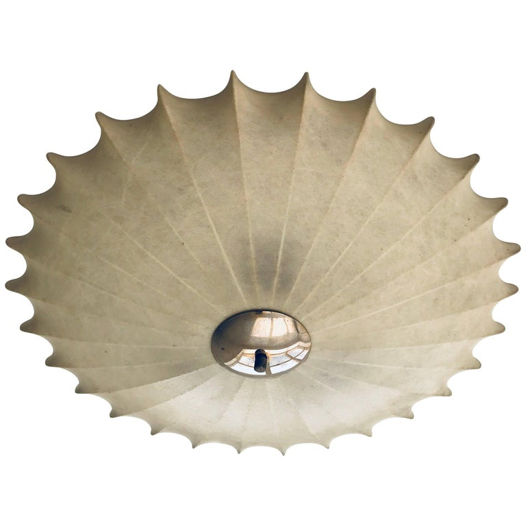 Achille Castiglioni Italian Flush Ceiling Light, 1960s For Sale