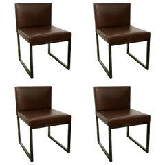 Set of Four Bag Chairs by Rodolfo Dordoni for Minotti