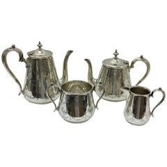 Walker & Hall Silver Plated Tea Set, England, 1861