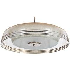 Midcentury Glass Pendant