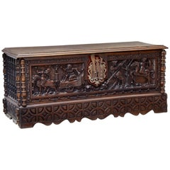 Early 19th Century Italian Carved Walnut Cassone