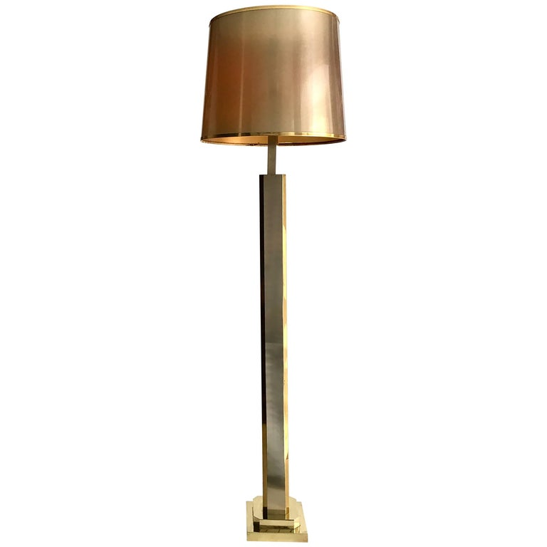 1970 Italian Brass Floor Lamp