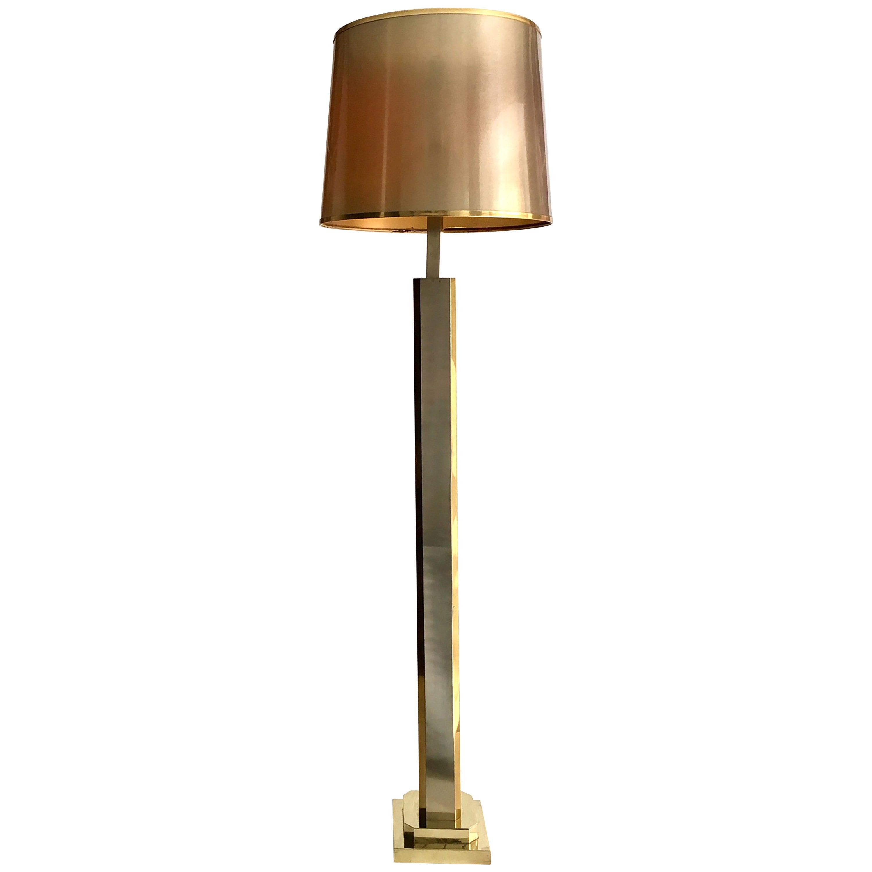 1970 Italian Brass Floor Lamp Romeo Rega Style