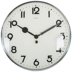 Big Kienzle Bauhaus Wall Clock from the 1930s