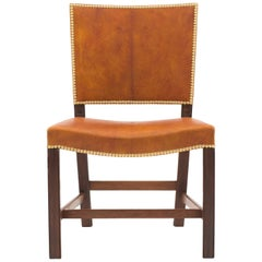 Kaare Klint Red Chair in Cuban Mahogany and Niger Leather, 1928