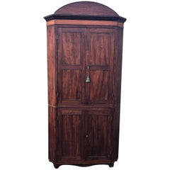 Beautiful Antique French Two-Door Armoire Corner Cupboard
