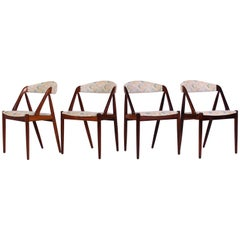 "Midcentury ""Model 31"" Rosewood Dining Chairs by Kai Kristansen"