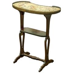 Table en Rognon or Kidney Shaped Work Table