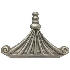 Silver Chinoiserie Pagoda Architectural Accent or Bed Corona
