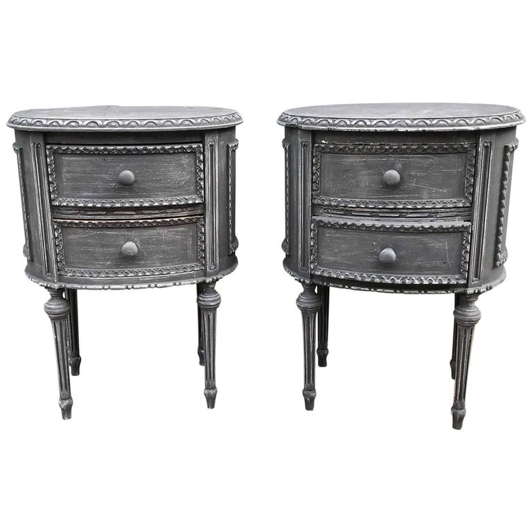 Lovely matching pair of antique french bedside tables vintage for lovely matching pair of antique french bedside tables vintage for sale watchthetrailerfo