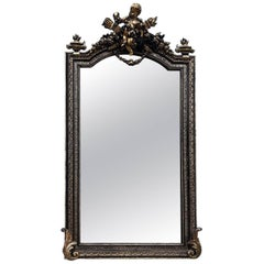 Stunning Rare French Antique Mirror, Original Early 1800s, Vintage