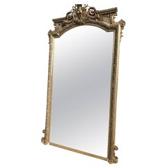 Antique French Mirror, Mega Rare, Early 1800s, Vintage