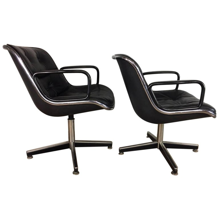 Charles Pollock Executive Leather Chairs