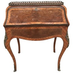 Lovely French Antique Bureau, Original Desk with Bronze Work
