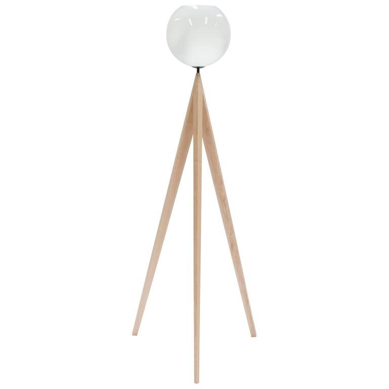 Maple Tripod Floor Lamp