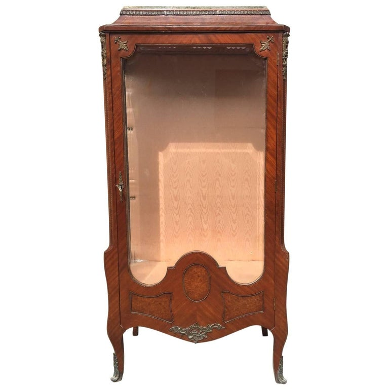 Rare Antique French Inlaid, Shop Display Case, Haberdashery