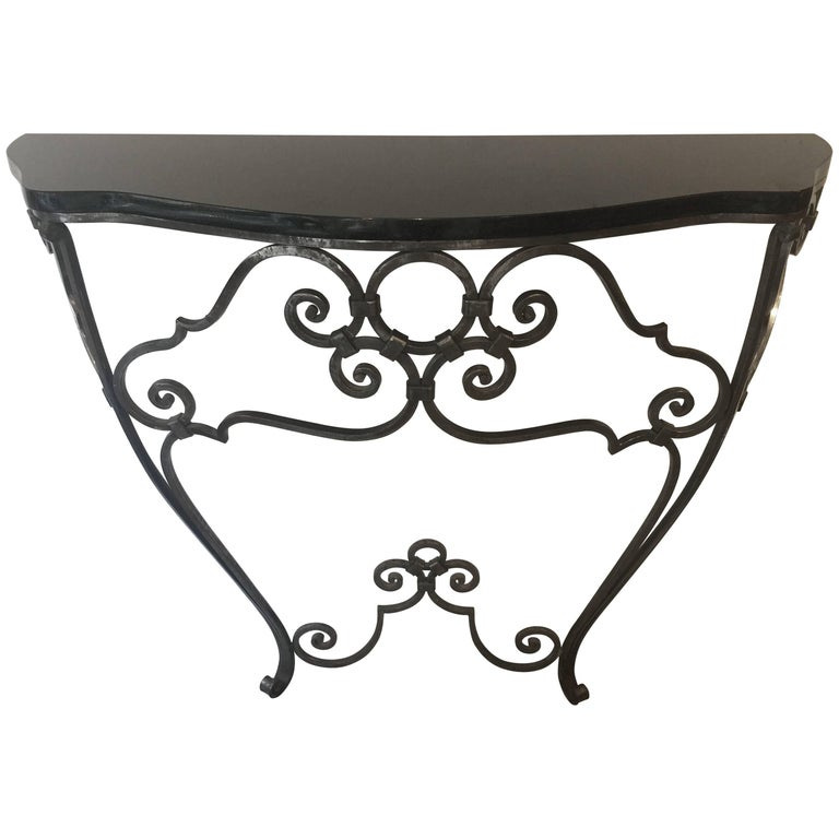 Deco Inspired Wall-Mounted Console